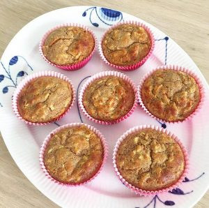 Æble, gulerod, kanel muffins 1
