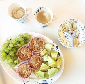 Æble, gulerod, kanel muffins 2